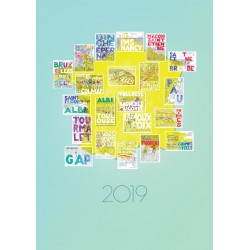 2019 Tour de France All Stage Map Collage