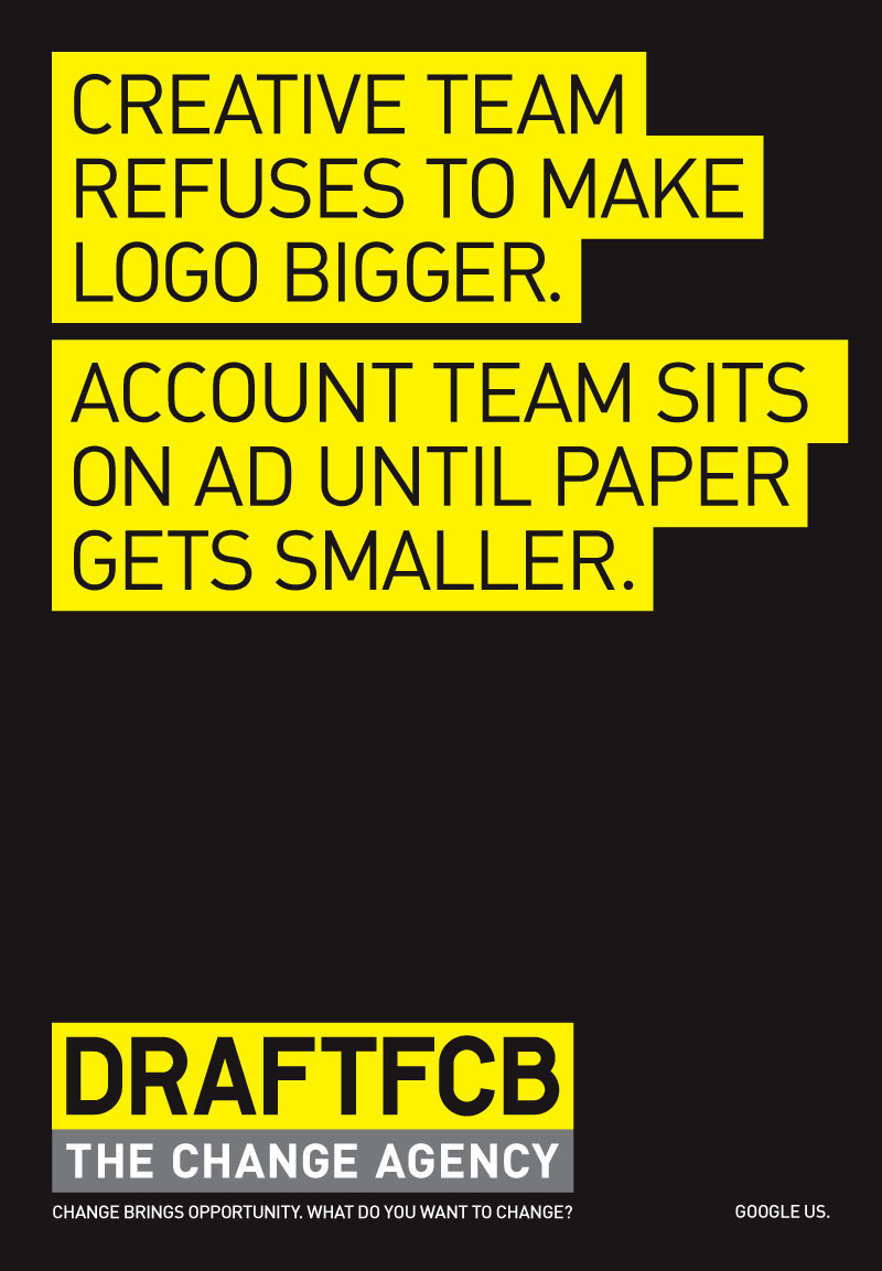 DraftFCB Newspaper Ad