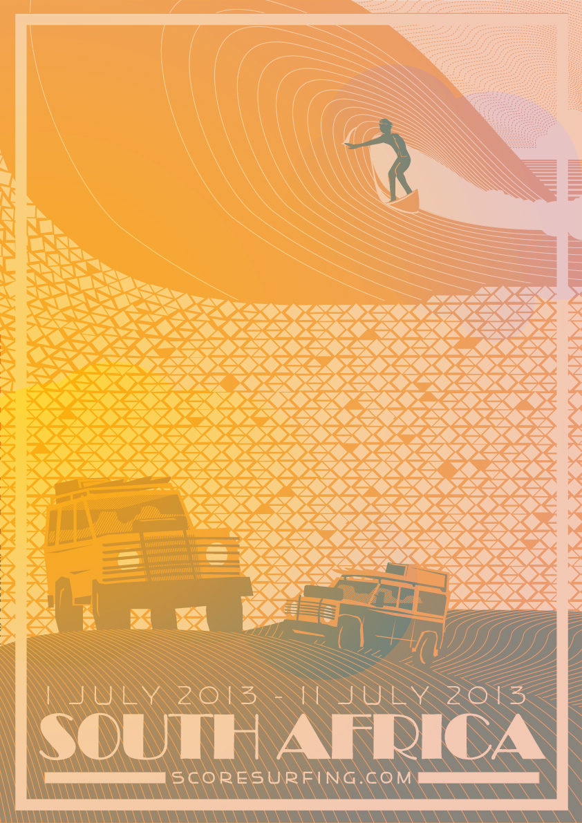 Score Surfing Poster South Africa - Bruce Doscher
