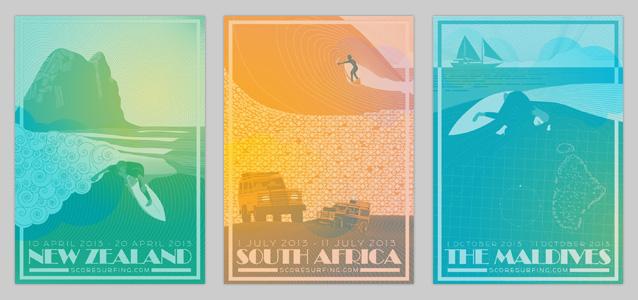Score Surfing Posters - Bruce Doscher